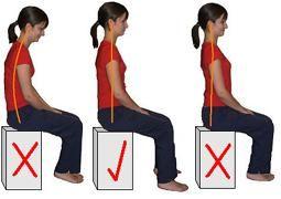 фото Правильная осанка при упражнениях при опущении матки